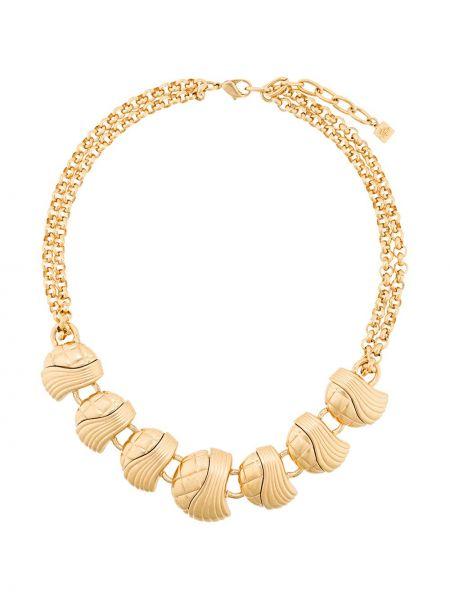Желтое ожерелье металлическое Balmain Pre-owned