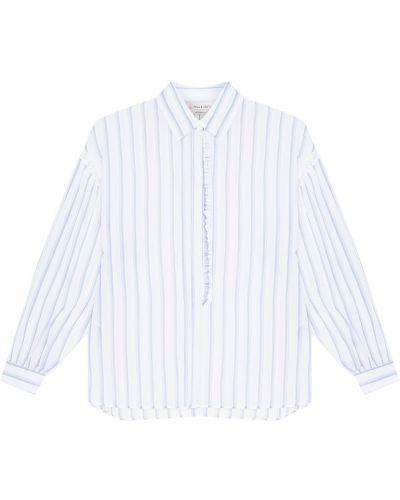 Шелковая белая блузка с оборками Paul & Joe Sister