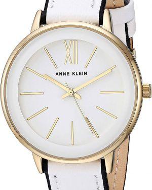 Водонепроницаемые часы на кожаном ремешке кварцевые Anne Klein