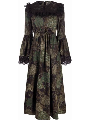 Хлопковое платье - зеленое Giambattista Valli