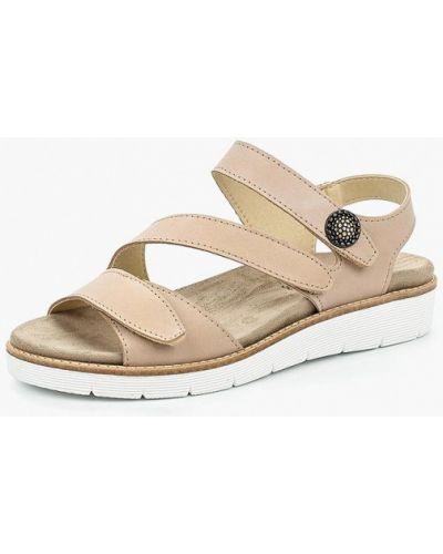 Бежевые кожаные сандалии El Tempo