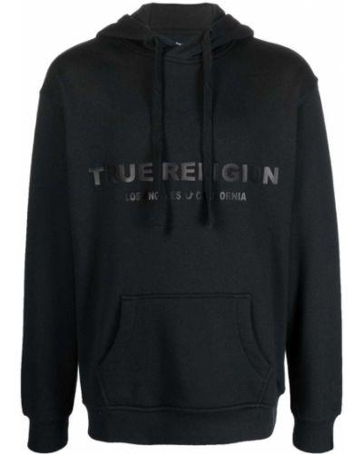 Bluza z nadrukiem z printem - czarna True Religion