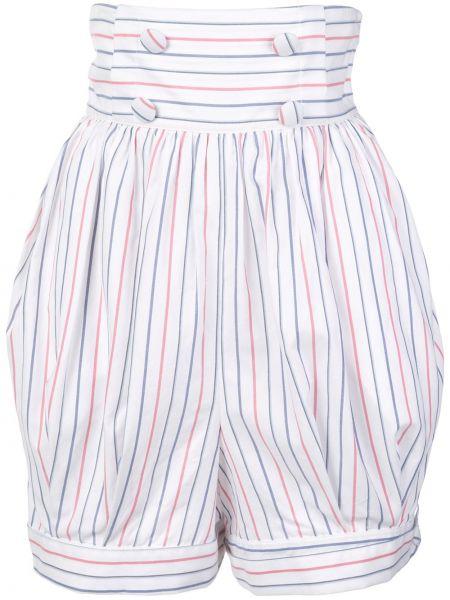 Однобортные белые шорты на пуговицах Rosie Assoulin