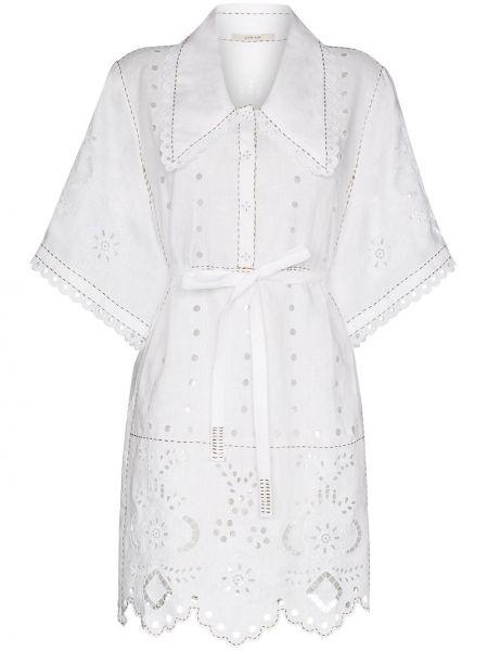 Пляжное белое пляжное платье с воротником на торжество Vita Kin