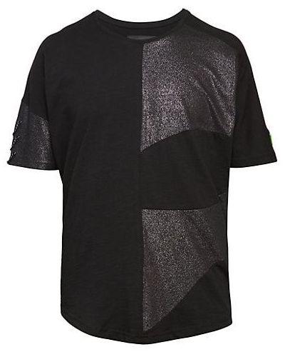Czarny t-shirt bawełniany krótki rękaw Ron Tomson