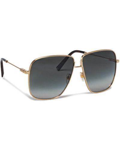 Złote okulary Givenchy