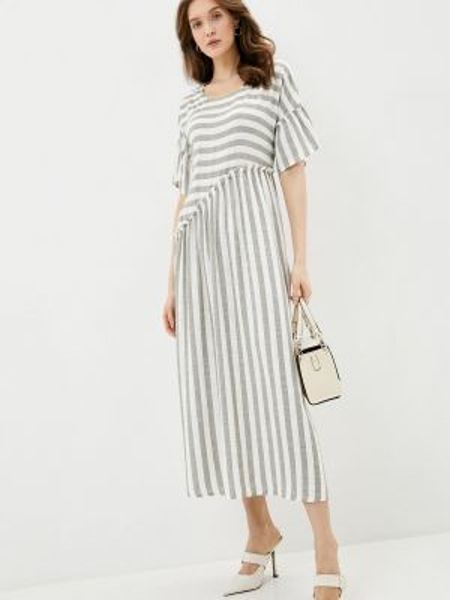 Серое повседневное платье Dizzyway