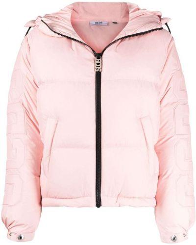 Розовая дутая куртка Gcds
