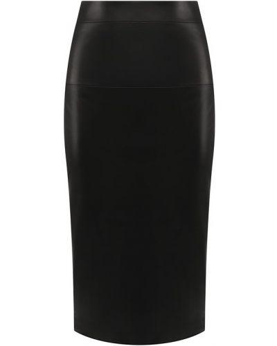 Юбка карандаш кожаная с разрезом сзади Tom Ford