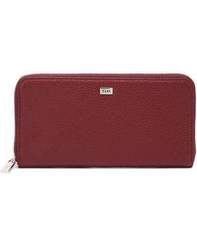 Красный кожаный кошелек Fabi