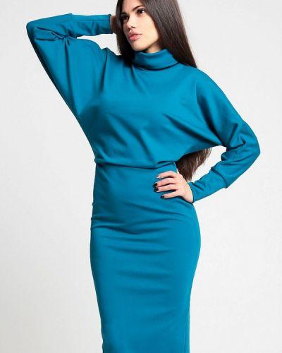 Платье вязаное синее Malaeva