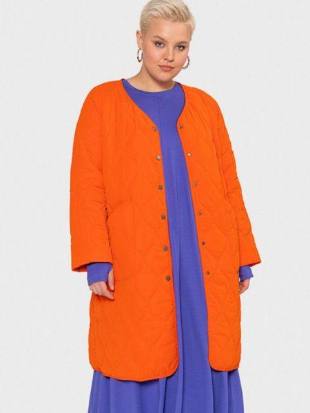 Теплая оранжевая утепленная куртка W&b