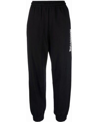 Зауженные спортивные брюки - черные Semicouture