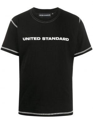 Черная рубашка с короткими рукавами United Standard