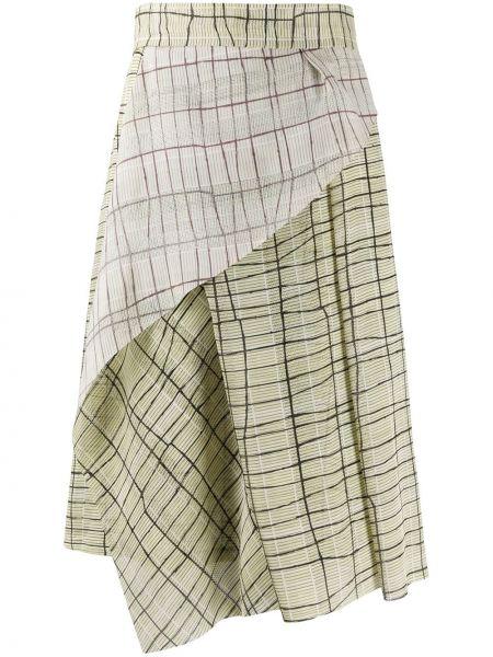 Плиссированная юбка миди с завышенной талией Chalayan