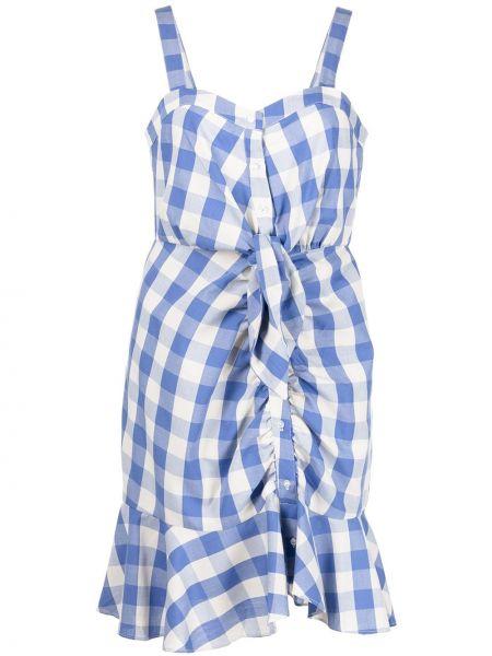Синее платье в клетку свободного кроя Likely