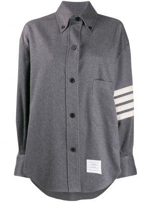 Кашемировая классическая рубашка с воротником с карманами на пуговицах Thom Browne