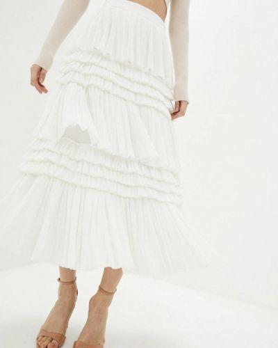 Белая юбка свободного кроя Miss Sixty