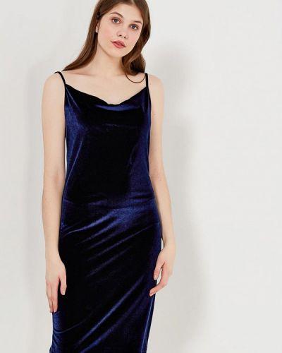 Синее платье осеннее Echo
