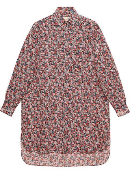 Klasyczny koszula klasyczna z długimi rękawami przeoczenie z kołnierzem Gucci