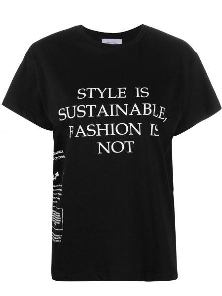 Хлопковая прямая черная футболка с круглым вырезом Redemption