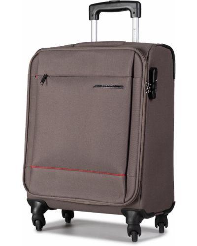 Szara walizka materiałowa Puccini