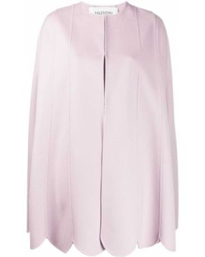 Różowa narzutka wełniana Valentino