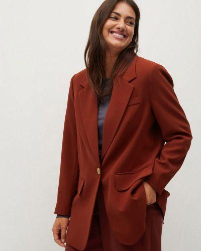 Коричневый пиджак Violeta By Mango