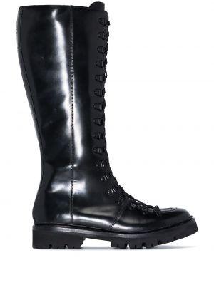 Кожаные сапоги - черные Grenson