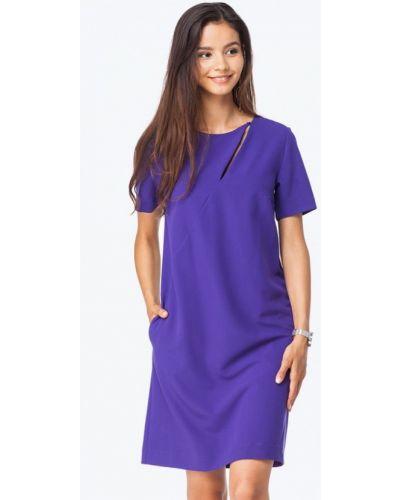 Повседневное платье осеннее фиолетовый Vilatte