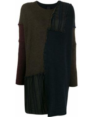Черный акриловый свитер оверсайз со спущенными плечами Rundholz Black Label