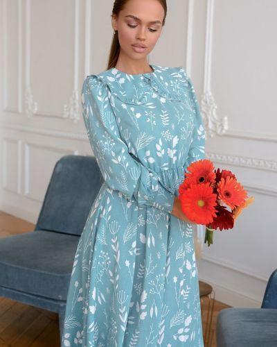 Приталенное повседневное платье с воротником Open-style