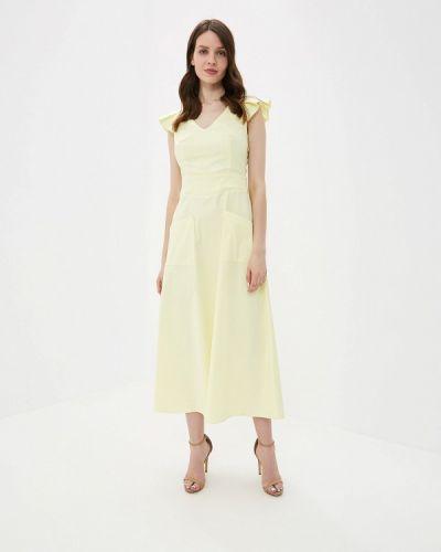 Платье прямое желтый Yuna Style