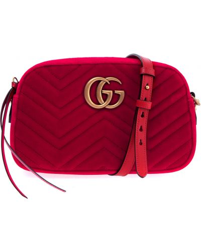 Кожаный сумка с логотипом с узором Gucci