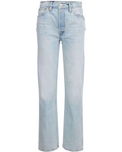 Niebieskie jeansy z wysokim stanem Re/done