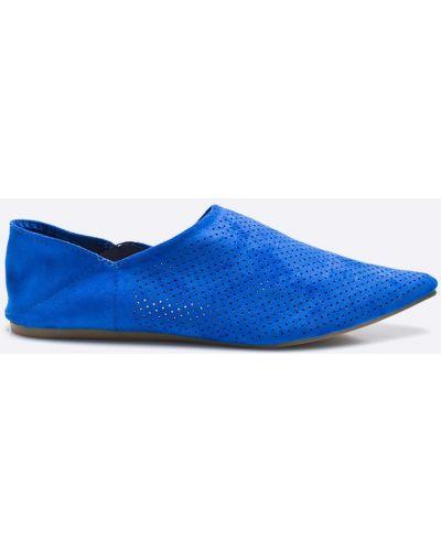 Синие балетки текстильные Answear