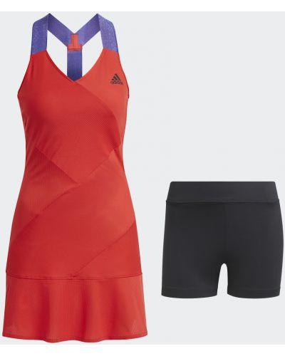 Теннисное черное платье Adidas