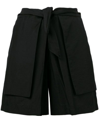 Однобортные черные шорты с карманами Christian Wijnants