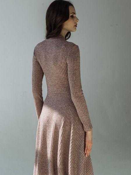 Коричневое платье Vovk