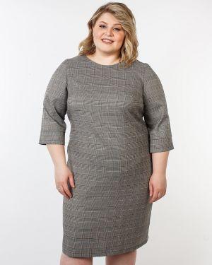 Деловое платье футляр в клетку Jetti-plus
