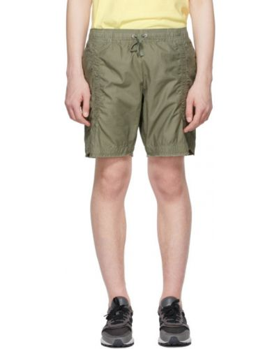 Хлопковые шорты с карманами хаки John Elliott