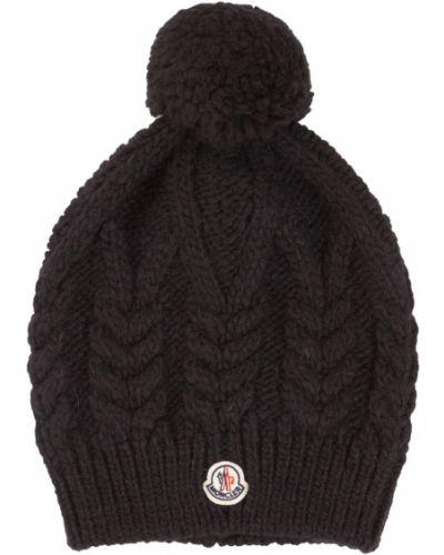 Шапка черная из альпаки Moncler