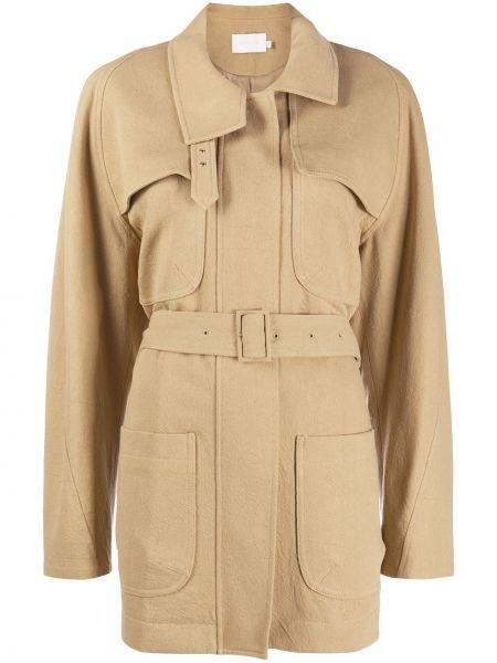 Однобортное пальто классическое с воротником с карманами Low Classic