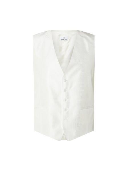Biała garnitur z kamizelką z dekoltem w serek Wilvorst