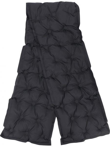 Стеганый черный шарф в рубчик прямоугольный Maison Margiela