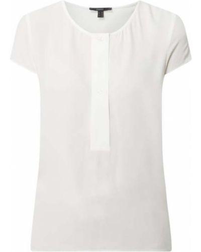 Biała bluzka krótki rękaw z wiskozy Esprit Collection
