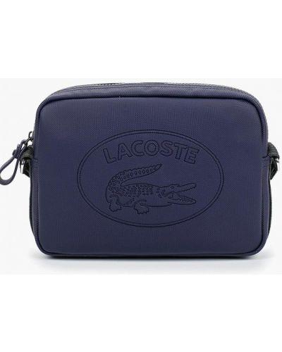 Кожаная сумка через плечо синий Lacoste