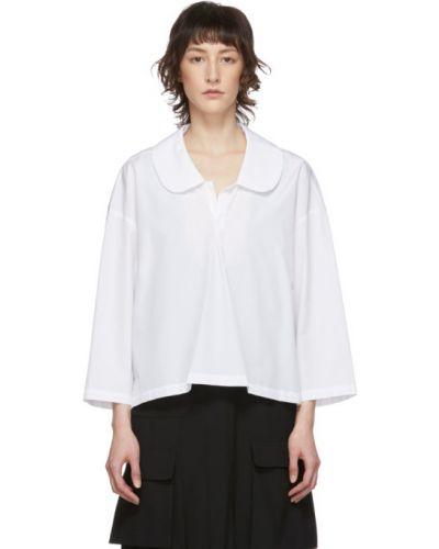 Блузка с длинным рукавом с воротником-стойкой белая Comme Des Garcons Comme Des Garcons