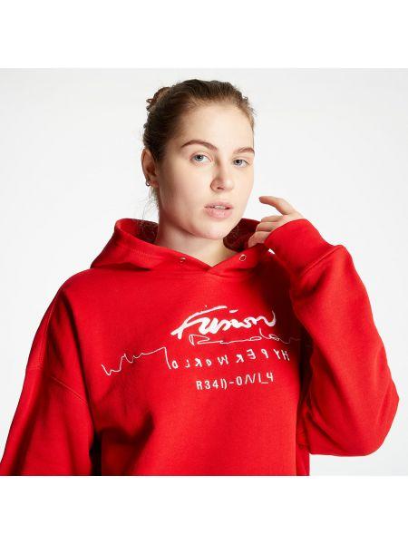 Красная брендовая толстовка Adidas Originals