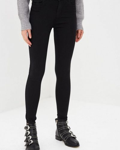 Черные джинсы-скинни с пайетками Regular